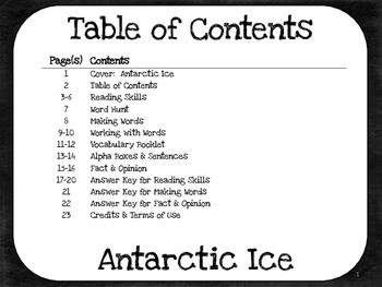Antarctic Ice  4th Grade Harcourt Storytown Lesson 21
