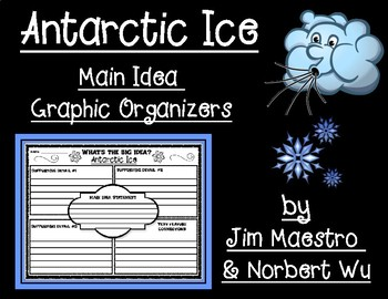 Antarctic Ice Main Idea Graphic Organizers