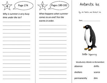 Antarctic Ice Trifold - Storytown 3rd Grade Unit 5 Week 1