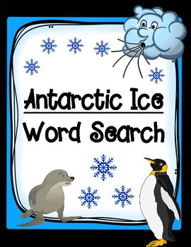 Antarctic Ice Word Search