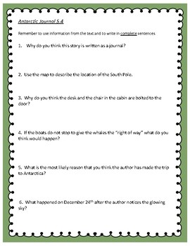Antarctic Journal - 4th Grade Reading Street