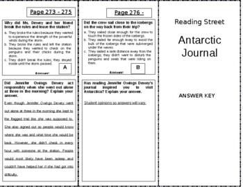 Antarctic Journal - 4th Grade Reading Street
