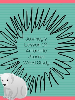 Antarctic Journal-Journey's Lesson 13