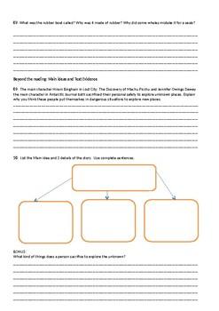 Antarctic Journal Reading Street Comprehension Quiz 4th grade G4