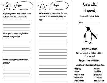 Antarctic Journal Trifold - Journeys 4th Grade Unit 3 Week 3 (2011)