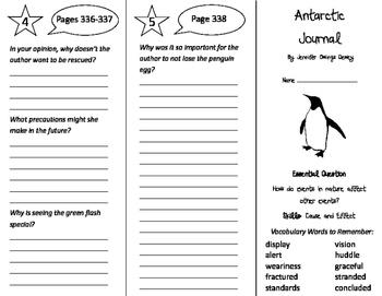 Antarctic Journal Trifold - Journeys 4th Grade Unit 3 Week 3 (2011)