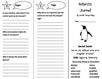 Antarctic Journal Trifold - Journeys 4th Grade Unit 3 Week 3 (2014, 2017)