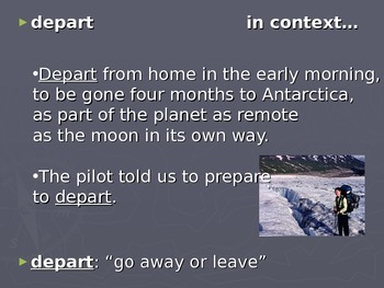Antarctic Journal Vocabulary Power Point Reading Street 2011