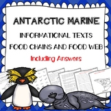 Antarctic Marine Build Food Chains & Food Webs - Ecology - Incl. Answers!