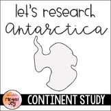 Antarctica Continent Research Packet