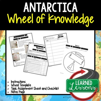 Antarctica Activity, Wheel of Knowledge (Interactive Notebook)