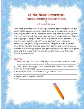 Antarctica: An Interactive Notebook Activity