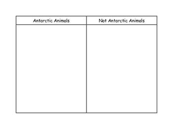 Antarctica Animal Sort - Kindergarten Reading Street Unit 4 Week 5