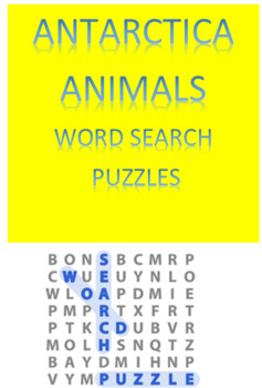 Antarctica Animals Word Search Puzzles