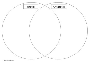Antarctica - Arctic and Antarctic Comparison Venn Diagram Activity