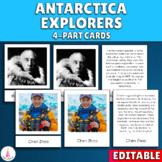 Antarctica Explorers Montessori 4-part cards