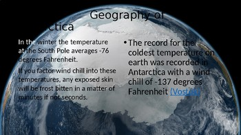 Antarctica Geography Power Point