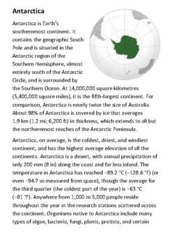 Antarctica Handout