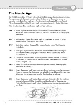 Antarctica: History: The Heroic Age