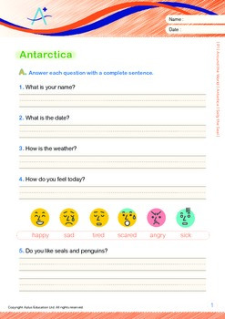 Antarctica (I): Sally the Seal (with 'Triple-Track Writing Lines')