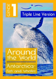 Antarctica (II): Fish and Whales (with 'Triple-Track Writing Lines')