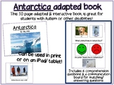 Antarctica Interactive Book for Special Education, ECE or Kinder