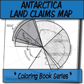 Antarctica Land Claims & Disputes-Labeled Map **Coloring Book Series**
