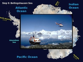 Antarctica Map Activity: fun, engaging, follow-along 31 slide PPT