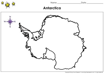 Antarctica Map - Blank - Full Page - Continent - King Virtue's Classroom