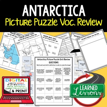 Antarctica Picture Puzzle, Test Prep, Unit Review, Study Guide