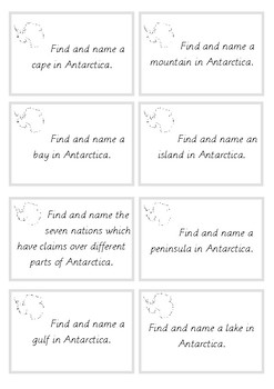 Antarctica Research Cards