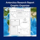 Antarctica Research Report Graphic Organizer