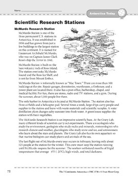 Antarctica: Today: Scientific Research Stations