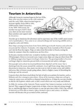 Antarctica: Today: Tourism
