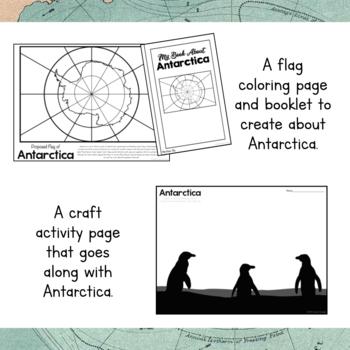 Antarctica Unit Study: Continent of Antarctica Brochure