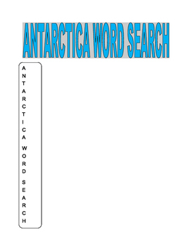 Antarctica Word Search