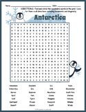 All About Antarctica Word Search