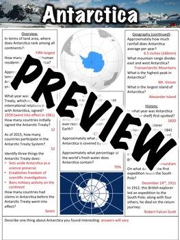 Antarctica Worksheet