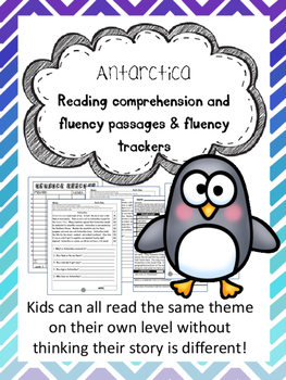 Antarctica fluency and comprehension leveled passage