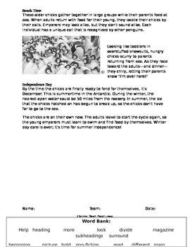 Antarctica text features