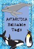Antarctica themed Editable Name-tags and Labels