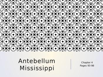 Antebellum Mississippi PowerPoint