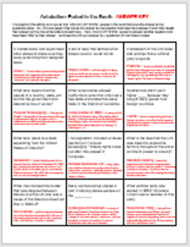 Antebellum Period Question Grid 1