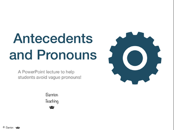 Antecedents and Pronouns PowerPoint