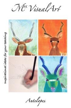 Antelopes - art lesson