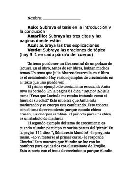 antes de ser libres theme essay guided notes by dual language antes de ser libres theme essay guided notes