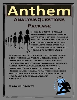 Anthem Analysis Question Package