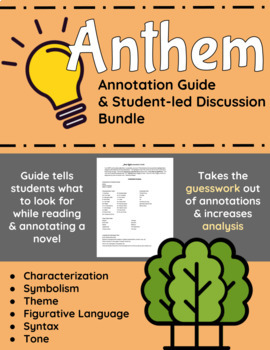 Anthem Annotation Guide and Student-led Discussion Bundle