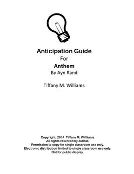 Anthem Anticipation Guide