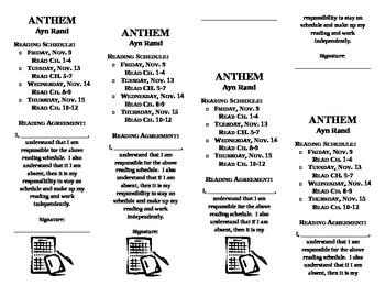 Anthem Bookmark